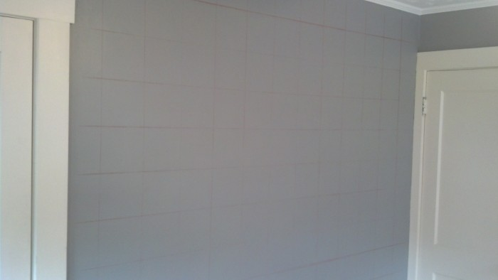 Step 2: Grid off your wall with chalk